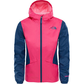 The North Face Zipline Rain Jacket Girls Peticoat Pink/Blue Wing Teal